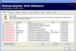 Virus and Malware removal with MalwareBytes